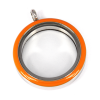 Memory Locket Medaillon Twist Oranje 30mm (RVS/Edelstaal)