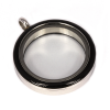 Memory Locket Medaillon Twist Zwart 30mm (RVS/Edelstaal)