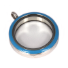Memory Locket Medaillon Twist Blauw 30mm (RVS/Edelstaal)