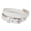 Floating Locket Lederen Armband Wit