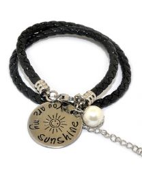 Pinkiezz Armband Zwart - You Are My Sunshine -