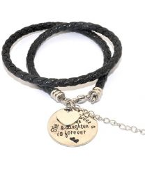 Pinkiezz Armband Zwart - The Love Between Mother & Daughter Is Forever -