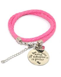 Pinkiezz Armband Roze - The Love Between Mother & Daughter Is Forever -