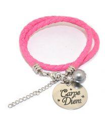 Pinkiezz Armband Roze - Carpe Diem -