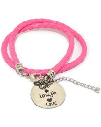 Pinkiezz Armband Roze - Live Laugh Love -