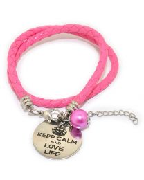 Pinkiezz Armband Roze - Keep Calm And Love Life -