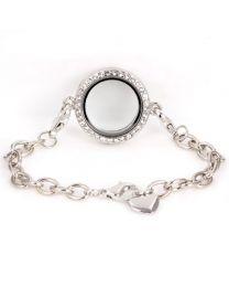 Memory Locket Armband Kristal 25 mm -