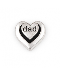 Floating Charm 3D Hart Dad -