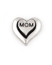 Floating Charm 3D Hart Mom -