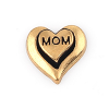 Floating Charm 3D Hart Mom Goud