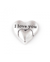 Floating Charm 3D Hart I Love You -