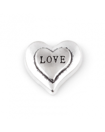 Floating Charm 3D Hart Love -
