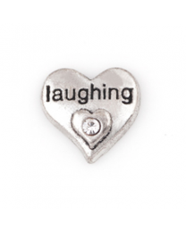 Floating Charm 3D Hart Laughing -