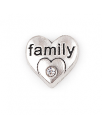 Floating Charm 3D Hart Family -