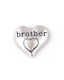 Floating Charm 3D Hart Brother -