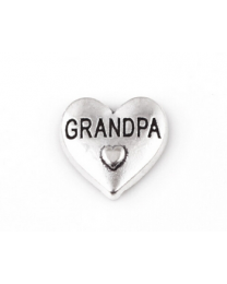 Floating Charm 3D Hart Grandpa -