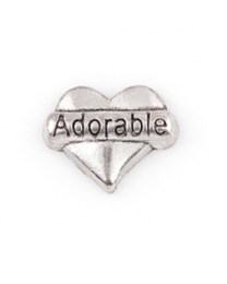 Floating Charm 3D Hart Adorable -