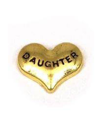 Floating Charm Hart Daughter Goud -