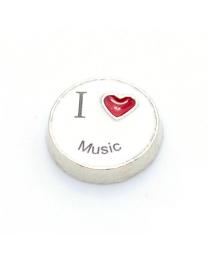 Floating Charm I Love Music -