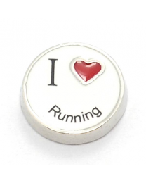 Floating Charm I Love Running -
