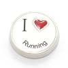 Floating Charm I Love Running