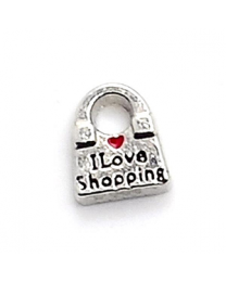 Floating Charm I Love Shopping -