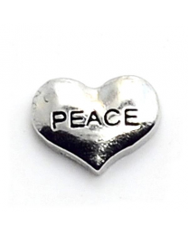 Floating Charm Hart Peace -