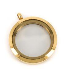 Memory Locket Medaillon Goud 30mm (RVS/Edelstaal) -