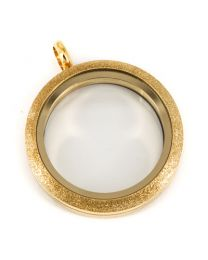 Floating Locket Medaillon Twist Sparkle Goud 30mm (RVS/Edelstaal) -