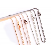 Bamboo Ketting 60 + 5 cm Zilver, Rose, Antraciet, Goud