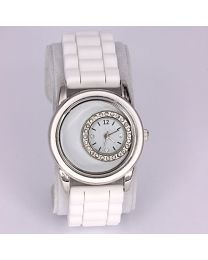 Floating Locket Horloge Wit -