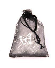 Cadeau Verpakking Klein Zwart met Zilveren Vlinders -
