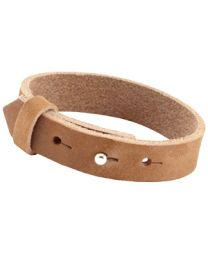 Cuoio Lederen Armband Breed Cognac Brown -