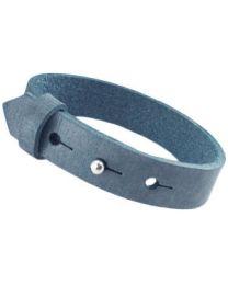 Cuoio Lederen Armband Breed Mist Blue -