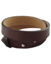 Cuoio Lederen Armband Dubbel Breed Chocolat Brown -