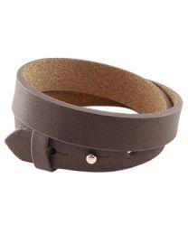 Cuoio Lederen Armband Dubbel Breed Dark Grey -