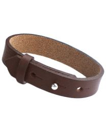 Cuoio Lederen Armband Breed Chocolat Brown -