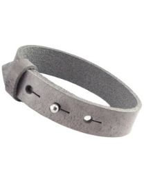 Cuoio Lederen Armband Breed Graphite Grey -