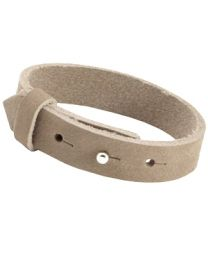 Cuoio Lederen Armband Breed Sand Beige -