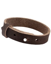 Cuoio Lederen Armband Breed Dark Chocolate Brown -