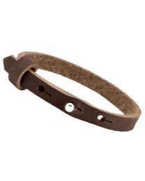 Cuoio Lederen Armband Smal Dark Chocolate Brown -