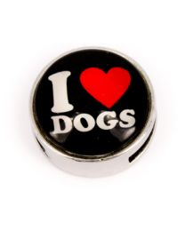 Cuoio Slider I Love Dogs Zwart -