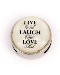 Cuoio Slider Live Laugh Love -