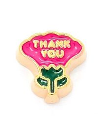 Floating Charm Thank You Goud -