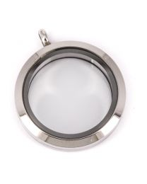 Memory Locket Medaillon Twist 30mm (RVS/Edelstaal) -