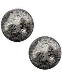 Cuoio Cabochon met Slider - Polaris Perseo Crushed Ice Black Silver Matt 20mm -