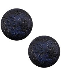 Cuoio Cabochon met Slider - Polaris Perseo Crushed Ice Dark Midnight Blue Matt 20mm -