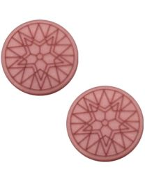 Cuoio Cabochon met Slider - Polaris Winter Star Antique Pink Matt 20mm -