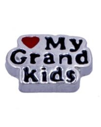 Floating Charm Love My Grandkids -
