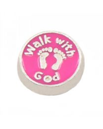 Floating Charm Walk With God -